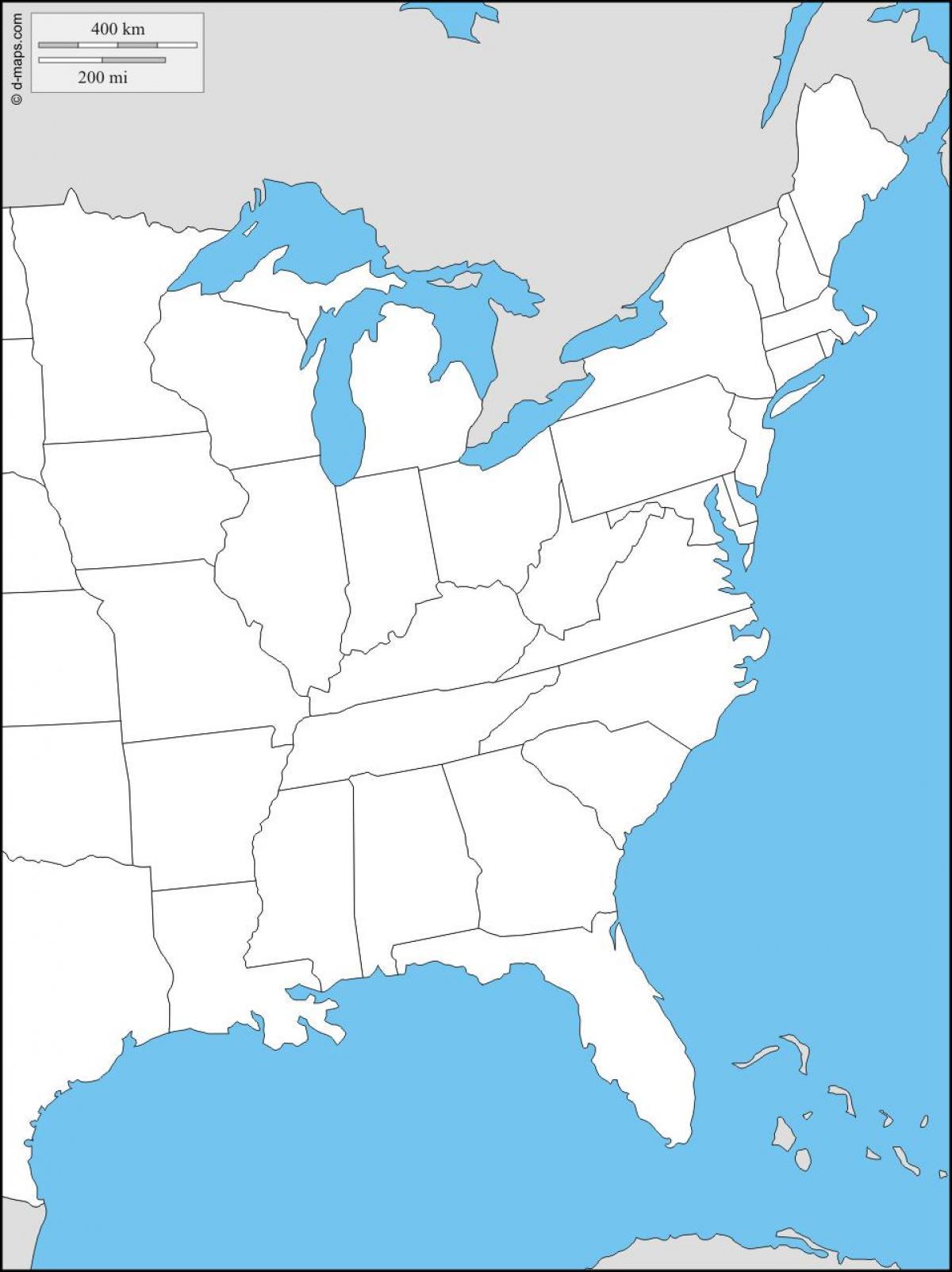 Verenigde Staten Oostkust Kaart Oost Kust Kaart Van Landen