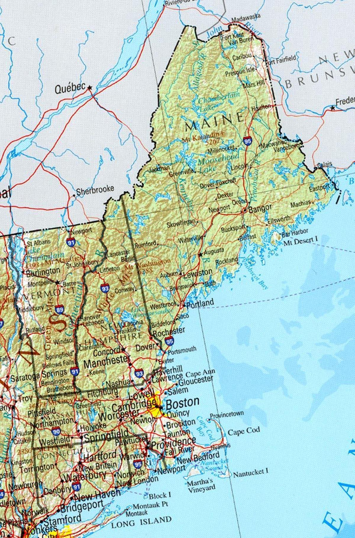 Wegenkaart Van Oost Ons Oosten Van De Usa Road Map Noord